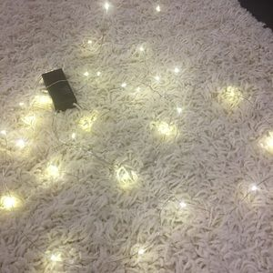 Silver string lights w new batteries